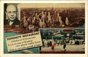 New York, Toffenetti Restaurant. 43rd Street at Broadway on Times Square, advertisement (EK)