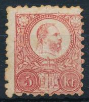 1871 5kr elfogazva (rozsda) / with shifted perforation (stain)