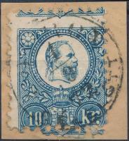1871 10kr erősen elfogazva / shifted perforation