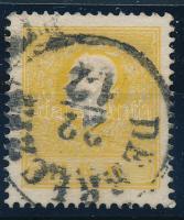 1858 2kr II, sötét sárga / dark yellow DEBRECZIN Certificate: Strakosch