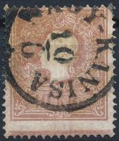 1858 10kr IIa, világos barna, alul Andráskereszt végződéssel / light braun, St. Andrews cross part on the bottom NAGY-KANISA Certificate: Strakosch