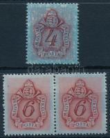 1945 3 db Kisegítő portó bélyeg alapnyomattal, felülnyomás nélkül
