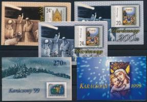 1998-99 5 klf. Karácsony bélyegfüzet / 5 diff. Christmas stamp-booklets (10.000)