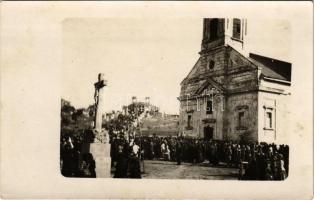 Nemesmilitics, Svetozar Miletic; Kálvária, körmenet / calvary, procession. photo