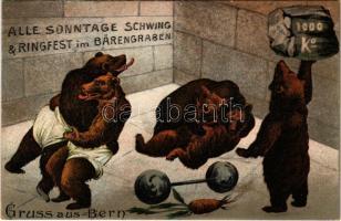 Gruss aus Bern. Alle Sonntage Schwing & Ringfest im Bärengraben / wrestling bears