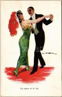 The dance of the day / Italian art postcard. WSSB 1071. s Usabal