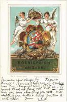 1899 (Vorläufer) Koenigreich: Ungarn. / Magyar királyi címer / The Kingdom of Hungary, coat of arms. Kunstverlag Paul Kohl No. 9. litho (EK)