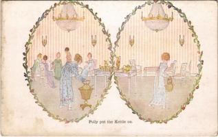 Polly put the kettle on. Our Old Nursery Rhymes. Augener LTD. London s: Henriette Willbeek le Mair (fl)