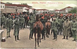 Shkoder, Shkodra, Scutari, Skutari; Pferdeankauf in Albanien / military horse market, soldiers