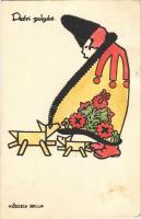1926 Petri gulyás. A Magyar Művészeti Vállalat kiadása / Hungarian art postcard s: Kőszegi Bella (EK)