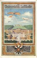 Für Österreichs Luftflotte. Viribus Unitis / Austrian military air fleet. Art Nouveau, coat of arms