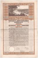 1916. Budapest Székesfőváros kötelezvénye 200K-ról (2x) sorszámkövetők, magyar és német nyelven, szárazpecséttel T:III
