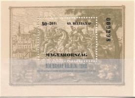 1992 Bélyegnap normál, ajándék és minta blokk (20.000) / Mi 221 normal, present and SPECIMEN blocks