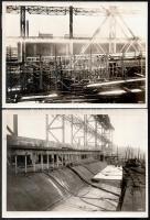 1916 A Deutschland kereskedelmi tengeralattjáró. 10 db fotó .Az építése, belső részei, próbaútja, kívülről. Feliratozott, jelzett fotók. Krupp. Ag. 23x16 cm / 10 photos of the commercial U-boot / submarine Deutschland. Manufacturing, inner and outer images. 10 inscribed photos. 22x16 cm
