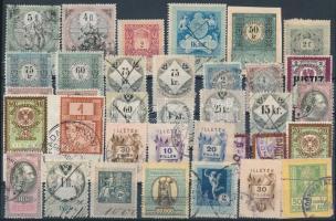 35 db régi osztrák és magyar okmánybélyeg
