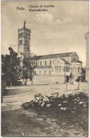 1917 Pola, Pula; Chiesa di marina / K.u.K. Kriegsmarine Marinekirche / Austro-Hungarian Navy church / Osztrák-magyar haditengerészet temploma. C.F.P. 1917/18. Nr. 8701.