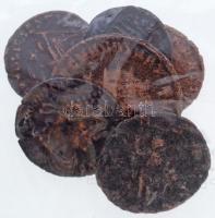 Római Birodalom 6db-os vegyes római rézpénz tétel a Kr. u. III-IV. századból T:2,2-  Roman Empire 6pcs of various Roman copper coins from the 3rd and 4th century AD C:XF,VF