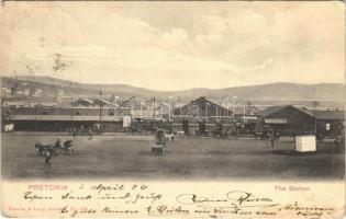 1906 Pretoria, railway station, booking office (EK)