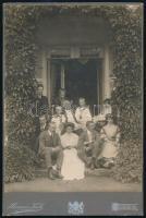 1907 Neuwied (Németország), Herman Koch nevével jelzett, keményhátú vintage fotó, datálva, 26x17,3 cm