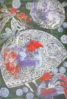 Domján József (1907-1992): Julia szép leány. Színezett ofszetnyomat, papír, jelzett,számozott (23/130), 47×33 cm