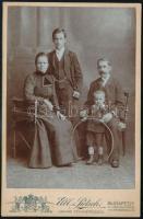 cca 1900 Budapest, Elbl és Pietsch fényképészek műtermében készült, keményhátú vintage fotó, 16,2x10,6 cm