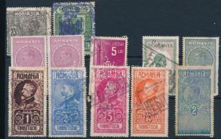 11 db-os román okmánybélyeg összeállítás stecklapon