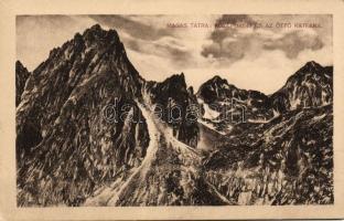 Tatra, mountain peaks, Tátra, Középorom, Öt tó katlan 'Turistaság és Alpinizmus'