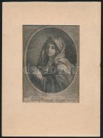 2 db XVIII. sz. vallási metszet. Szűz Mária és Jézus. Rézmetszet, papír, sérült, paszpartuban 13,5x10 cm