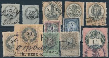 1881-1897 12 db klf okmánybélyeg