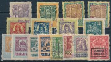 1915-1923 16 db klf illeték- és forgalmi adóbélyeg