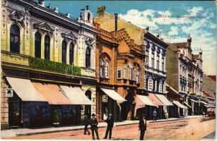 1918 Eszék, Esseg, Osijek; Kapucinska ulica, Englische Magazin, Generalno Opravnictvo Franco-Hongroise / utca, üzletek / street, shops (EK)