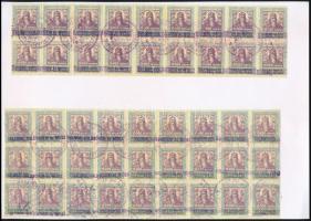 Értékpapír forgalmi adóbélyeg, 10 000 korona, 2 ívdarab, 45 db