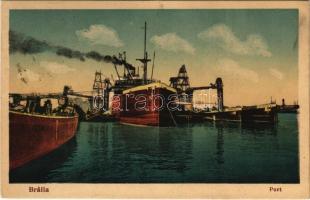 Braila, port, ships