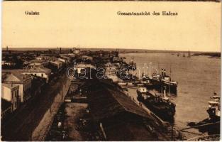 Galati, Galatz; Gesamtansicht des Hafens / port, ships (EK)