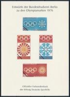 NSZK 1976 Olimpia bélyegtervek emlékív