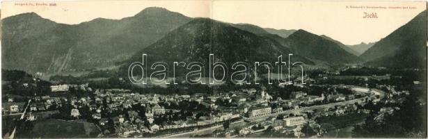 1898 (Vorläufer) Bad Ischl. Folding panoramacard