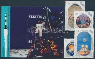 1989 Holdraszállás - Apollo 11 sor Mi 252-255 + blokk Mi 9