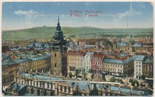 Kraków, Krakau; leporellocard with castle, theatre, railway station, etc. (EK)