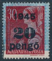 1945 Kisegítő bélyegek II. kiadás 20P/30f hiányos alapszínnel