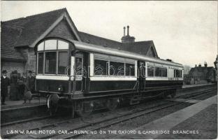 London & North Western Railway Company rail motor car, running on the Oxford & Cambridge branches