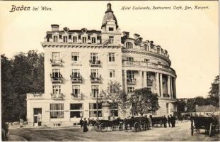 1917 Baden bei Wien (Baden), Hotel Esplanade, Restaurant, Café, Bar, Konzert (EK)