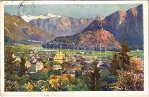 1928 Bad Ischl, gegen Süden / general view, art postcard. Deutsche Schulverein Karte Nr. 1692. s: Scheiring (r)