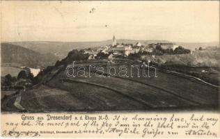 1905 Drosendorf, Drosendorf-Zissersdorf; general view. Verlag von Johann Schrimpf