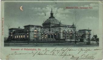 1901 Philadelphia (Pennsylvania), Memorial Hall, Fairmount Park. W. Hagelberg (EB)