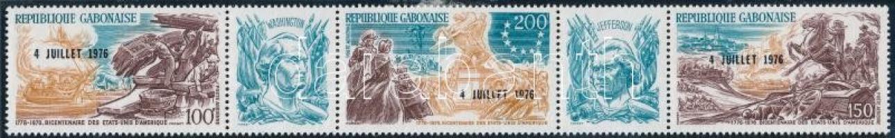 1976 200 éves az amerikai függetlenség ötöscsík Mi 589-591