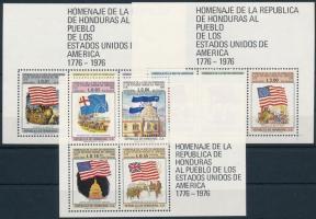 1976 200 éves az amerikai függetlenség blokksor Mi 26-28
