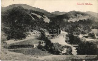 1916 Gurahonc, Honctő, Gurahont; látkép, híd / general view, bridge + K.u.K. Briefzensur Arad (EK)