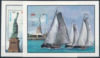 1986 100 éves a New York-i szabadságszobor - Hajók blokkpár Mi 134-135