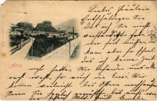 1897 (Vorläufer!) Arco (Südtirol), street view (EM)