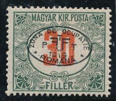 Debrecen 1919 Pirosszámú portó 30f, Bodor vizsgálójellel (8.000)